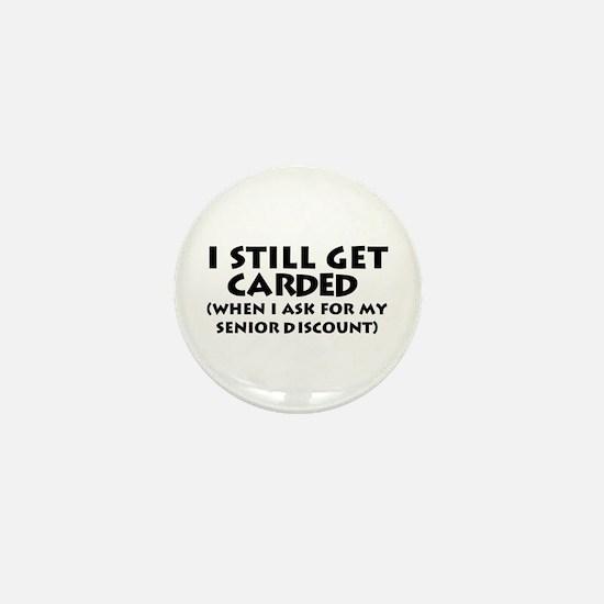 Humorous Senior Citizen Mini Button
