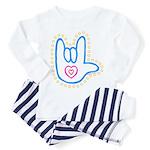 Blue Bold Love Hand Toddler Pajamas