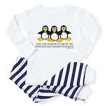 Burning Stare Penguins Toddler Pajamas