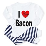 I Love Bacon (Front) Toddler Pajamas