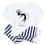 Kokopelli Snowboarder Toddler Pajamas