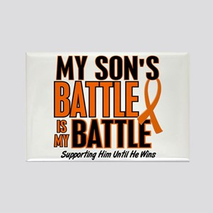 My Battle Too (Son) Orange Rectangle Magnet