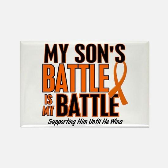 My Battle Too (Son) Orange Rectangle Magnet