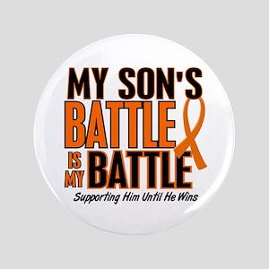 """My Battle Too (Son) Orange 3.5"""" Button"""
