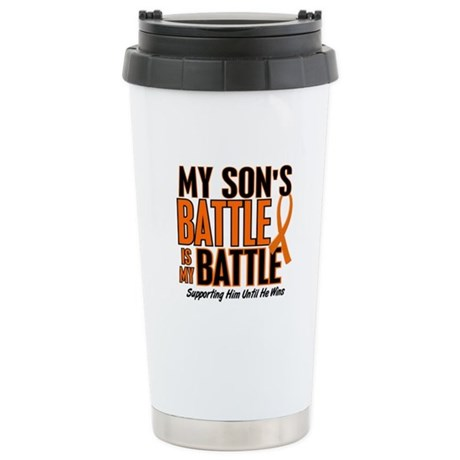 My Battle Too (Son) Orange Stainless Steel Travel