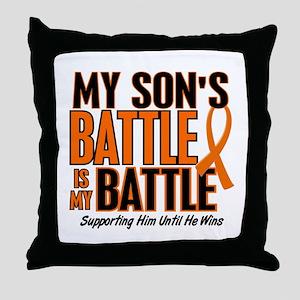 My Battle Too (Son) Orange Throw Pillow