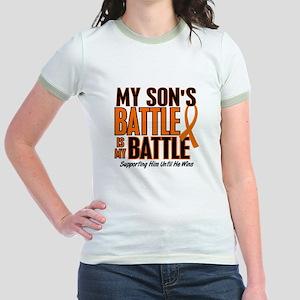 My Battle Too (Son) Orange Jr. Ringer T-Shirt