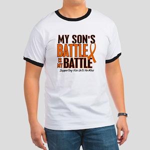 My Battle Too (Son) Orange Ringer T