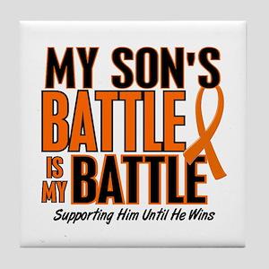 My Battle Too (Son) Orange Tile Coaster