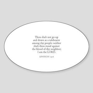 LEVITICUS 19:16 Oval Sticker