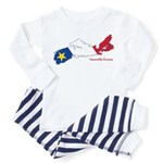 Acadian Flag Nova Scotia Toddler Pajamas