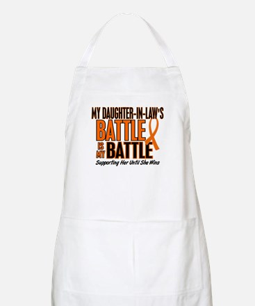 My Battle Too (Daughter-In-Law) Orange BBQ Apron