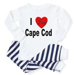 I Love Cape Cod (Front) Toddler Pajamas