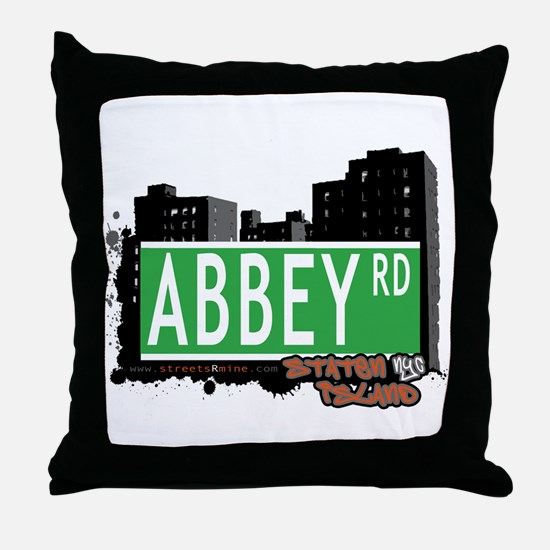 ABBEY ROAD, STATEN ISLAND, NYC Throw Pillow