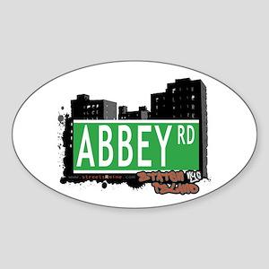 ABBEY ROAD, STATEN ISLAND, NYC Oval Sticker