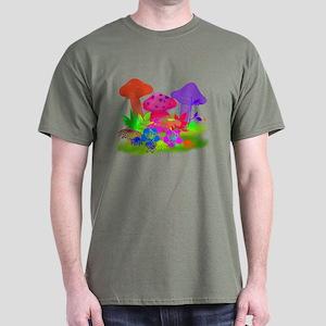 Magic Mushrooms Dark T-Shirt