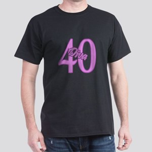 40th Birthday Diva Dark T-Shirt