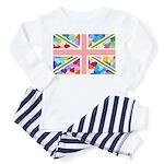 Heart filled Union Jack Flag Toddler Pajamas