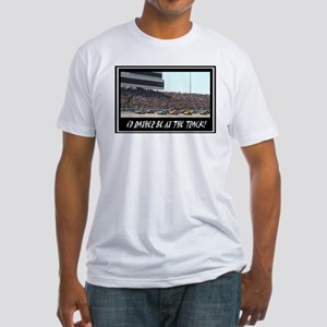 """I'd Rather Be At The Track"" Fitted T-Shirt"