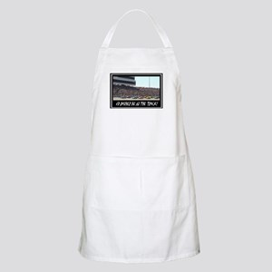"""""""I'd Rather Be At The Track"""" BBQ Apron"""