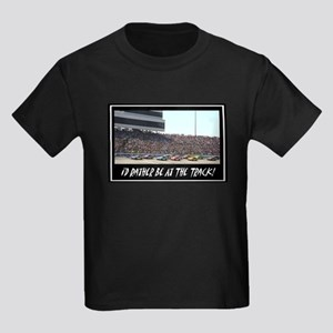 """""""I'd Rather Be At The Track"""" Kids Dark T-Shirt"""
