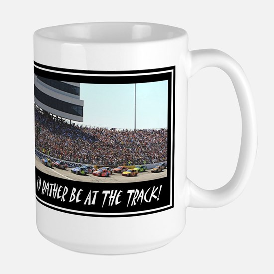 """I'd Rather Be At The Track"" Large Mug"