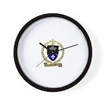 GUERETTE Family Crest Wall Clock