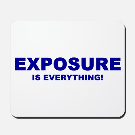 Exposure Navy Mousepad