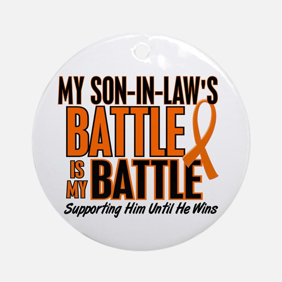 My Battle Too (Son-In-Law) Orange Ornament (Round)