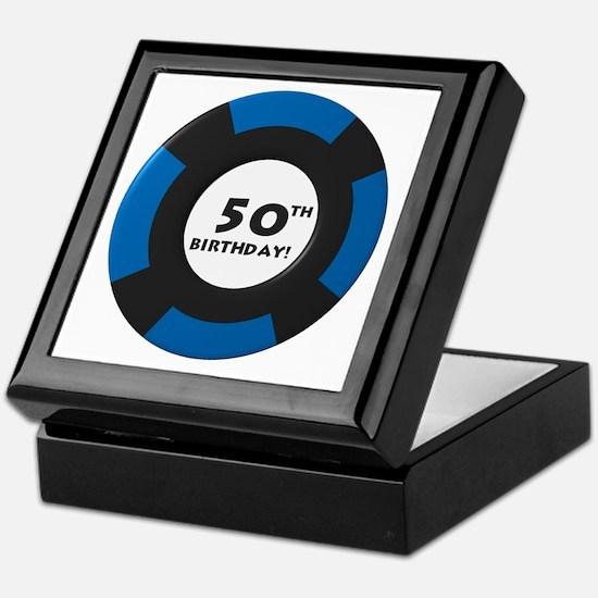 Vegas 50th Birthday Keepsake Box