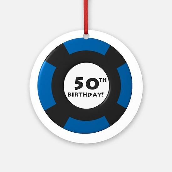 Vegas 50th Birthday Ornament (Round)