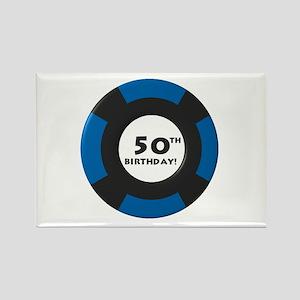Vegas 50th Birthday Rectangle Magnet
