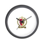 GUIDRY Family Crest Wall Clock