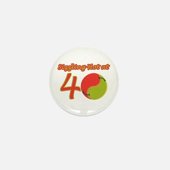 Sexy 40th Birthday Mini Button