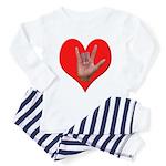 ILY Heart Toddler Pajamas