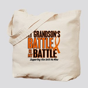 My Battle Too (Grandson) Orange Tote Bag