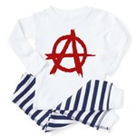 Anarchy Symbol Toddler Pajamas