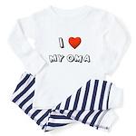 I Love My Oma Toddler Pajamas