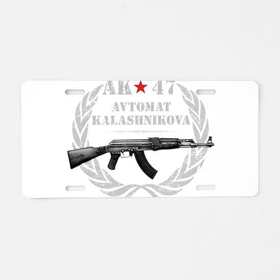 Ak 47 Aluminum License Plate