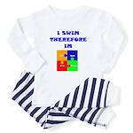 I swim therefore IM Toddler Pajamas
