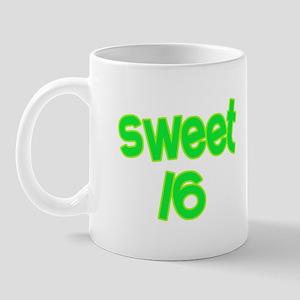 Green Sweet 16 Mug