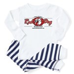 Red Dog Child Pajamas (white + pastels)