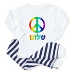 Shalom - Peace Sign Toddler Pajamas