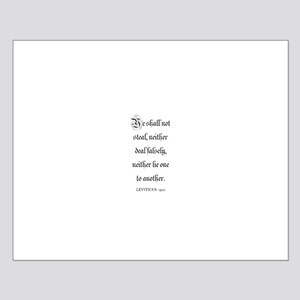 LEVITICUS  19:11 Small Poster