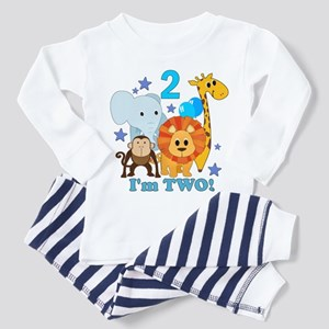 2nd Birthday Jungle Toddler Pajamas