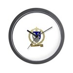 GUILBEAU Family Crest Wall Clock