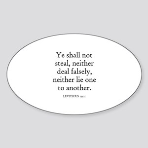 LEVITICUS 19:11 Oval Sticker