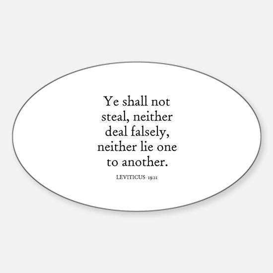 LEVITICUS 19:11 Oval Decal