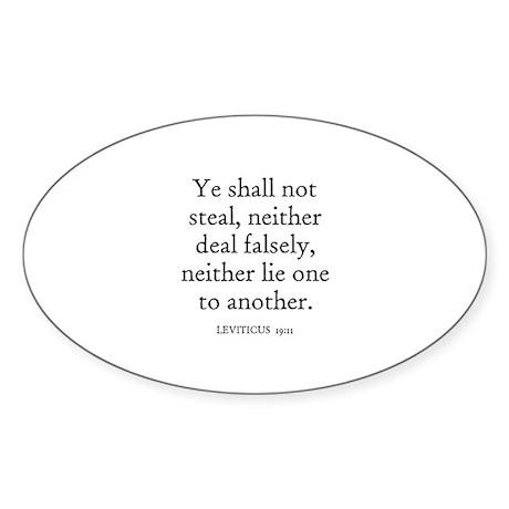 LEVITICUS 19:11 Oval Sticker