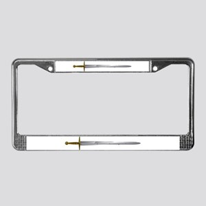 Sword License Plate Frame
